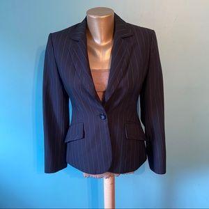 Marks & Spencer navy pinstripe blazer